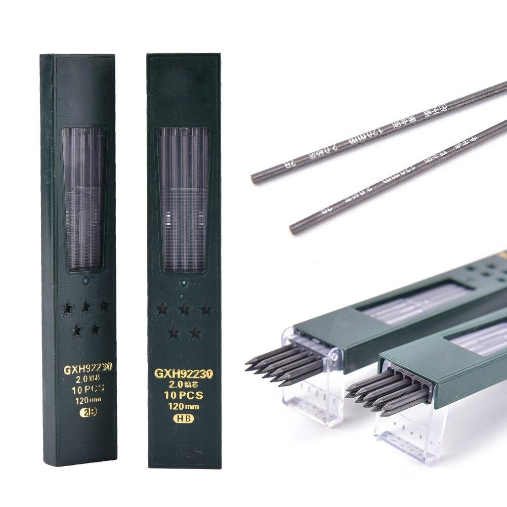 lote-de-10-unidades-por-caja-2mm-2b-hb-negro-creativo-20mm-repuesto-de-lapiz-mecanico