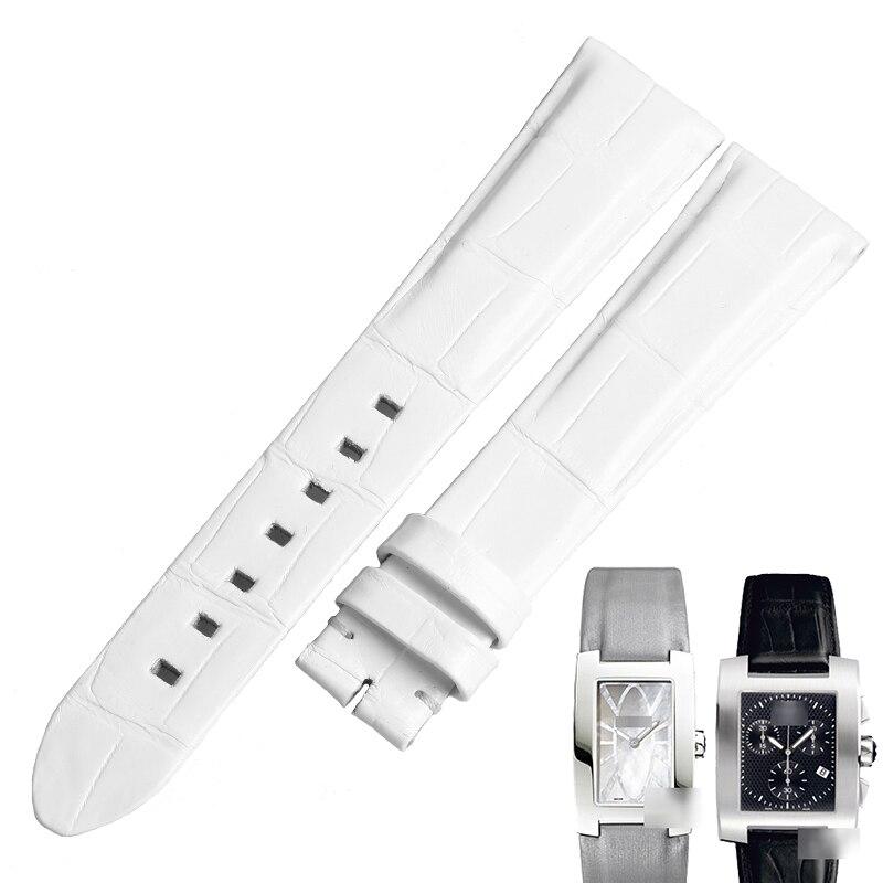Pulseiras de Relógio para o Perfil da Pele do Jacaré Faixa de Relógio Wentula Crocodilo Grãos Mulher – U0102370