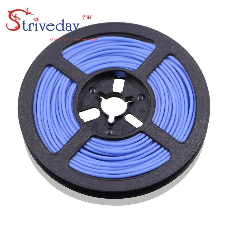 100 meters/roll 328 ft 30AWG cabo Flexível linha de Fio De cobre Estanhado de Borracha de Silicone DIY Eletrônico 10 cores para escolher a partir de