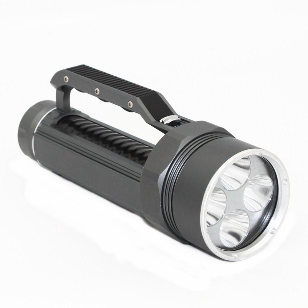 20W Ultraviolet Diving Flashlight 4x UV LED Waterproof 395nm Purple Light Lamp Torch Linterna+2x 26650 Battery +Charger enlarge