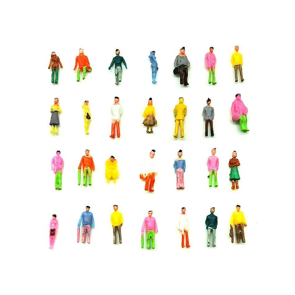 100 Uds. Modelo 1100 personas pintadas modelo entrena personas figuras de pasajeros escala modelo Disposición del tren
