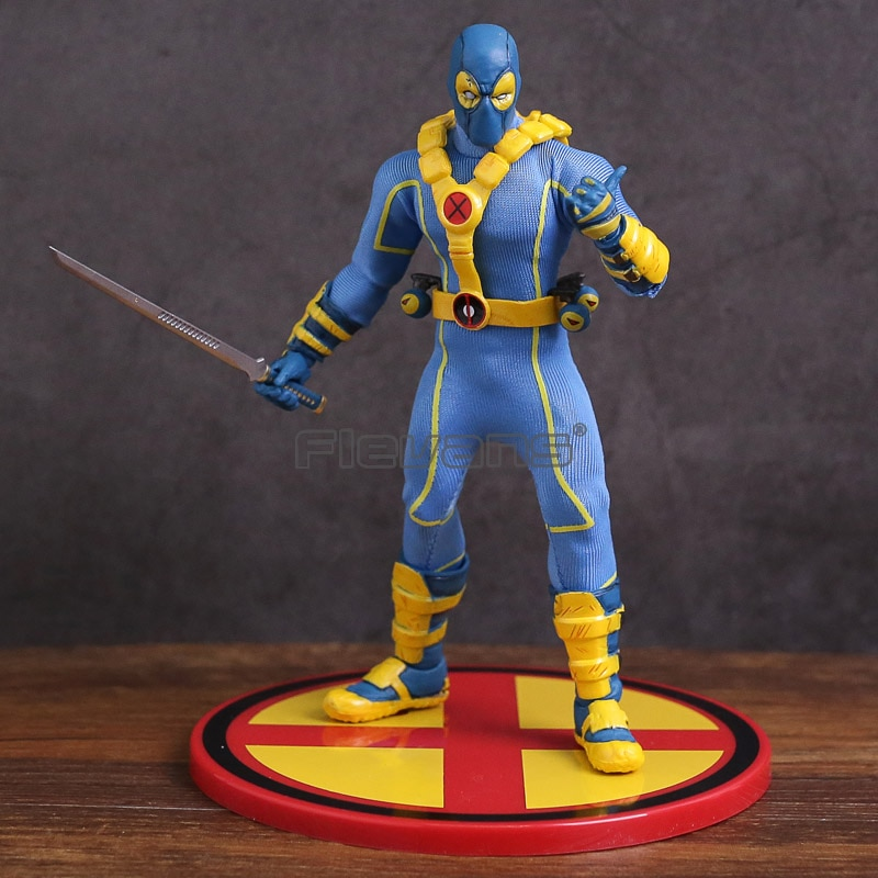 ¡Mezco juguetes X-MEN Deadpool azul Ver! Uno juguete MODELO DE figura de acción 12 de PVC