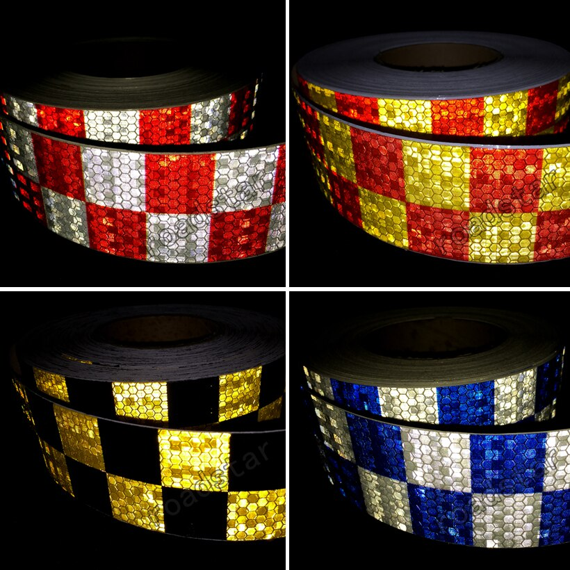 5cm X 10m Reflective Car Stickers Style Safety Reflective Material For Car Automobile Pick-up Motorcycle Bike