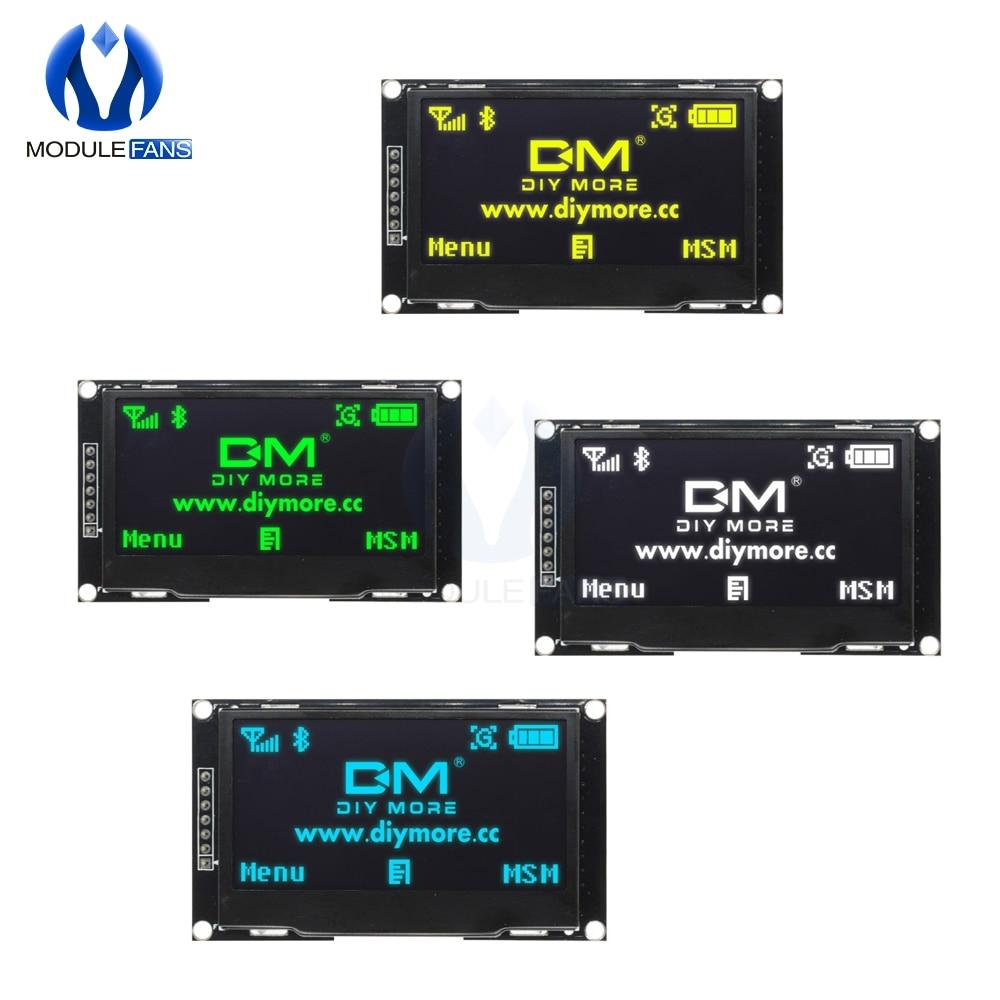 "Pantalla LCD Digital de 2,42 ""2,42 pulgadas 12864 128X64 Módulo de pantalla OLED C51 tablero para Arduino verde/amarillo/Blanco/azul SSD1309 STM32"