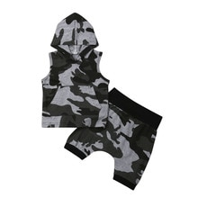 New Toddler Kids Baby Boys Camo Hoodies Tops Shirt Pants Shorts Outfits Set