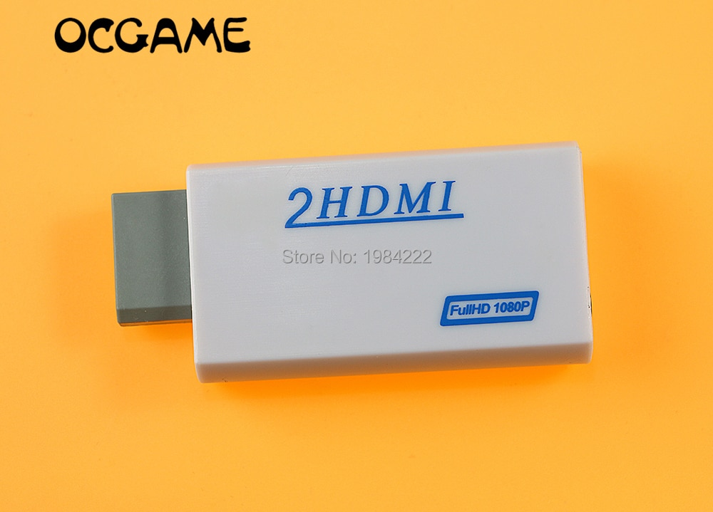 OCGAME для Wii к HDMI Wii2HDMI адаптер конвертер 3,5 мм аудио видео выход Full HD 720P 1080P HDTV монитор 10 шт./лот