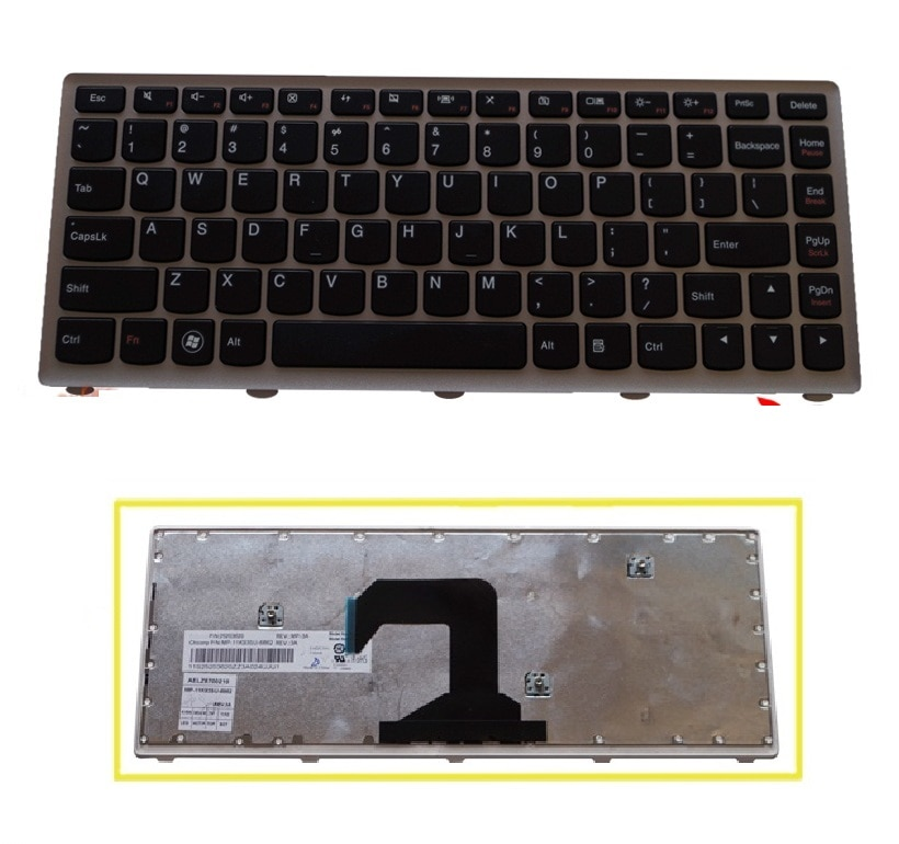 SSEA Brand New US Keyboard For LENOVO U410 U410-ITH U410-IFI laptop
