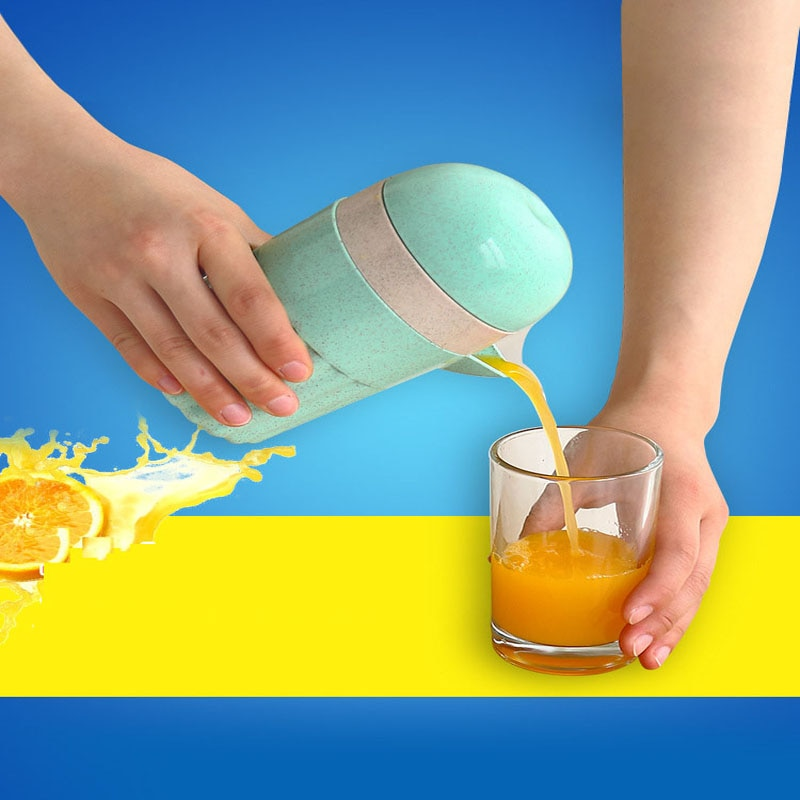 Exprimidor Manual de cítricos para el hogar, exprimidor de naranja, limón, fruta, 100%, Jugo original, Vida Saludable para niños, exprimidor portátil