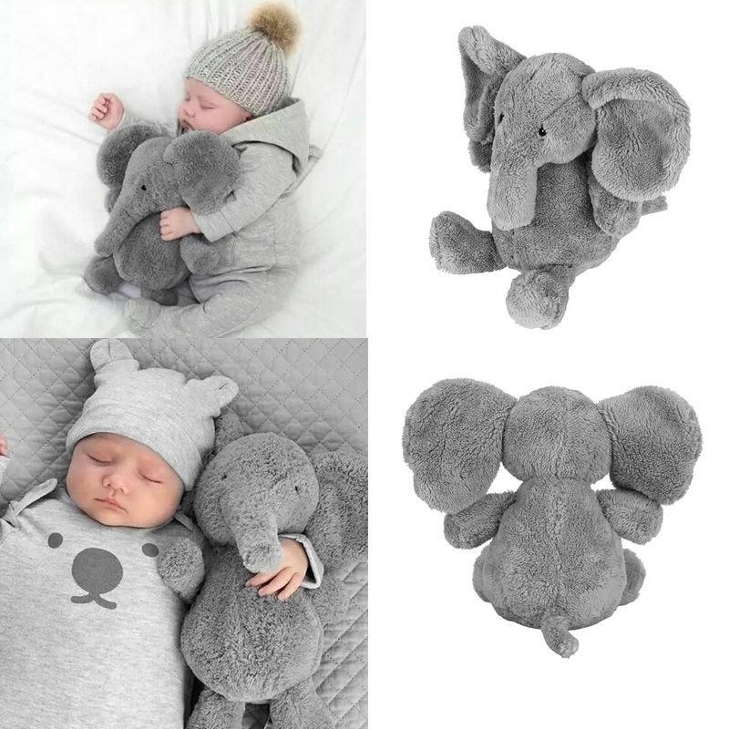 1 almohada bonita de elefante para niños, juguete suave de felpa, muñeca de nariz larga, cojín Lumbar, hermana, pequeño elefante de peluche, juguete