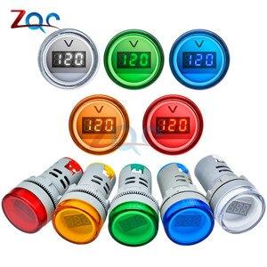 22 мм AD16 AD16-22DSV Тип AC 60-500 В Мини измеритель напряжения светодиодный цифровой дисплей Вольтметр переменного тока индикатор светильник/Пилотна.. .