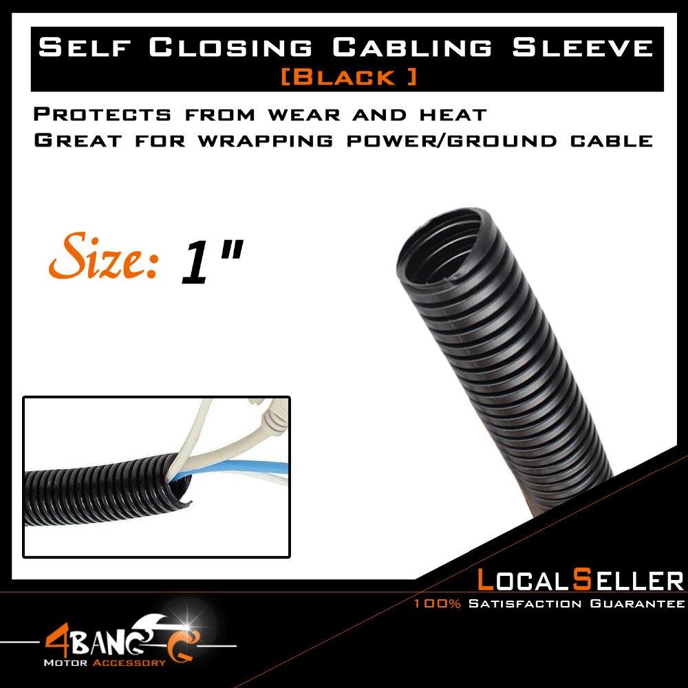"20ft 1/2 ""Flexible"" dividido de alambre telar tubo de conducto de polietileno negro"
