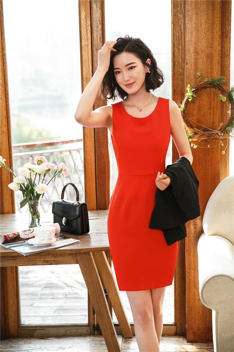 Fashion Elegant Orange Slim Fit Dresses For Women Business Work Wear Mini Dress Female Clothes OL Styles 2018 Summer