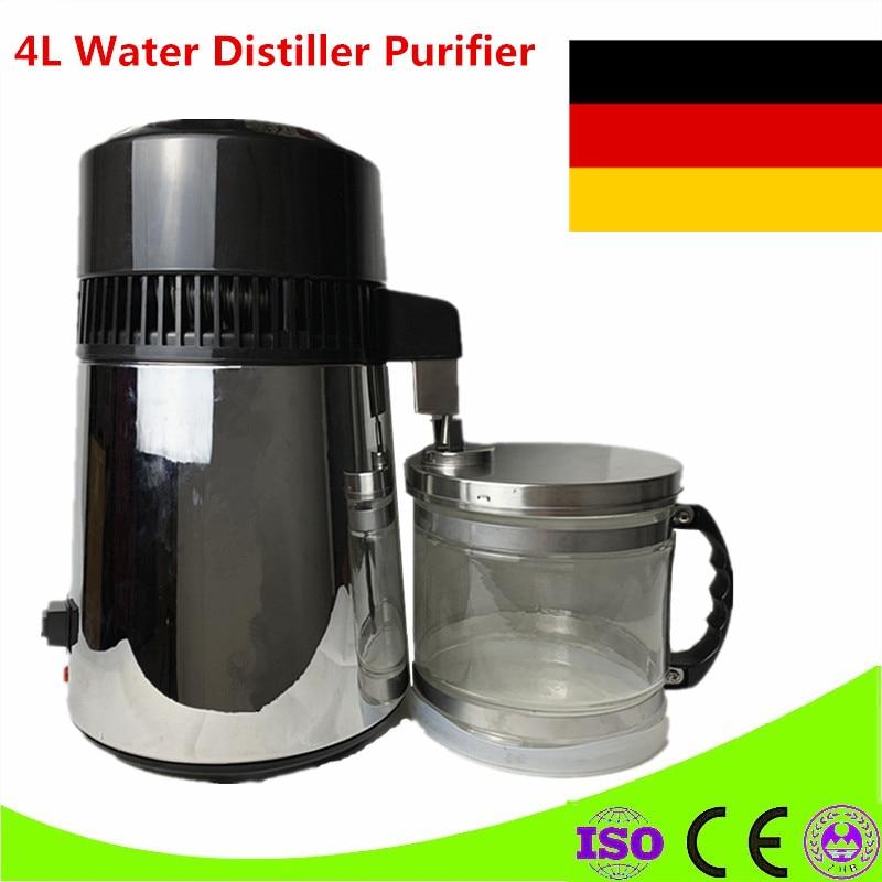 Дистиллятор для воды 4L аппарат дистилляции фильтр очистки стоматологический