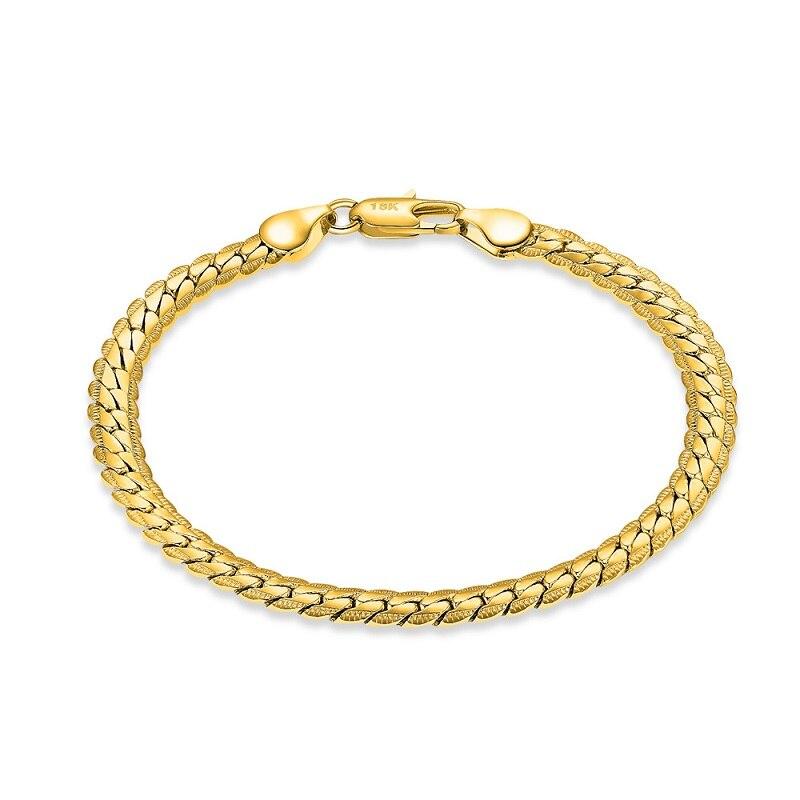 Liffly pulsera de moda 18K para mujer Regalo de Cumpleaños aniversario conmemoración fiesta Unisex accesorios de joyería delicada