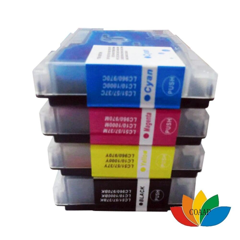 Cartucho de tinta Compatible para Brother LC1000 LC960 LC970 LC51 LC57 LC37 LC10, para DCP 150C 135C MFC 660CN, envío rápido