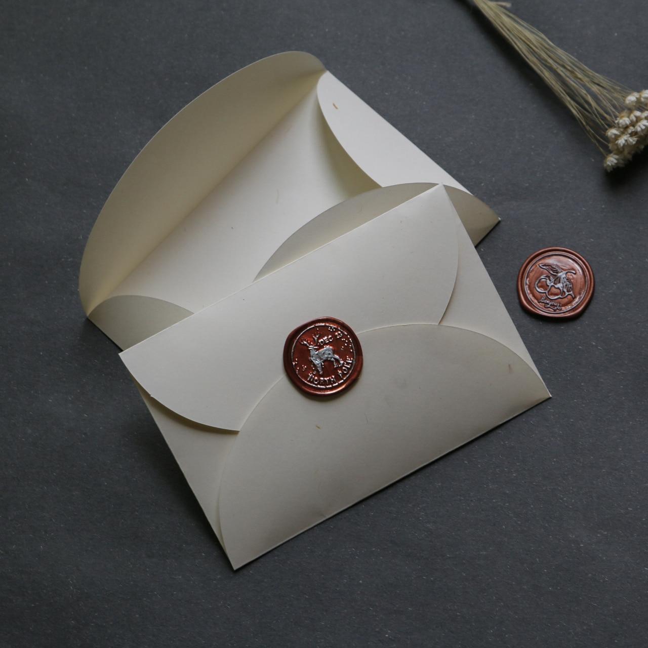 20pcs/set Vintage Ivory White Window Envelope Wedding Invitation Envelope Gift Postcard Cover Sobres Papel Stationery Zakka Gift