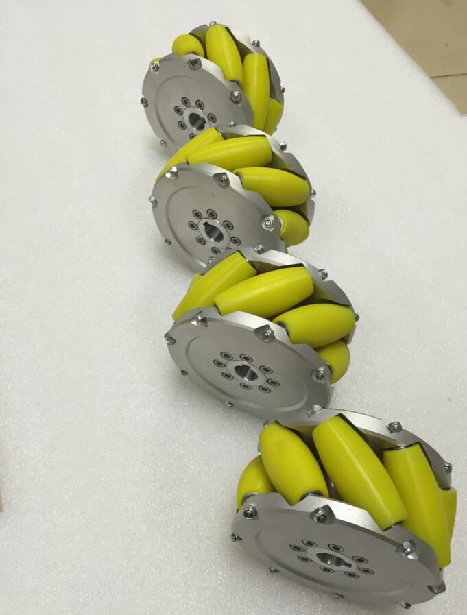 A set of 5inch (127mm) mecanum wheel PU roller (cacipity load 200KG) NM127A