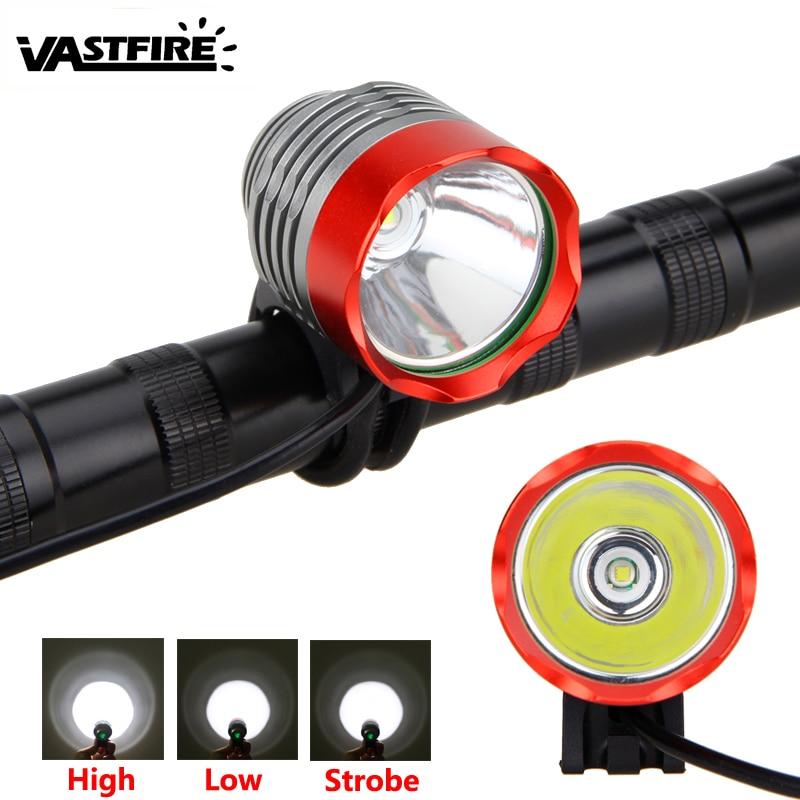 2 in 1 Headlight Bike Lamp 8000 lumen XM-L T6 LED Bicycle Light Front Head Torch Bike Headlamp +Battery+Charger+Headband