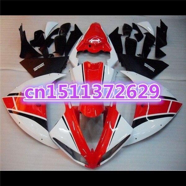 100% جديد هدية طقم ل YZF R1 09 10 11 الأسود الأحمر الأبيض YZF-R1 09-11 YZF1000 R1 09 10 11 YZF R1 2009 2010 2011 الجسم أطقم