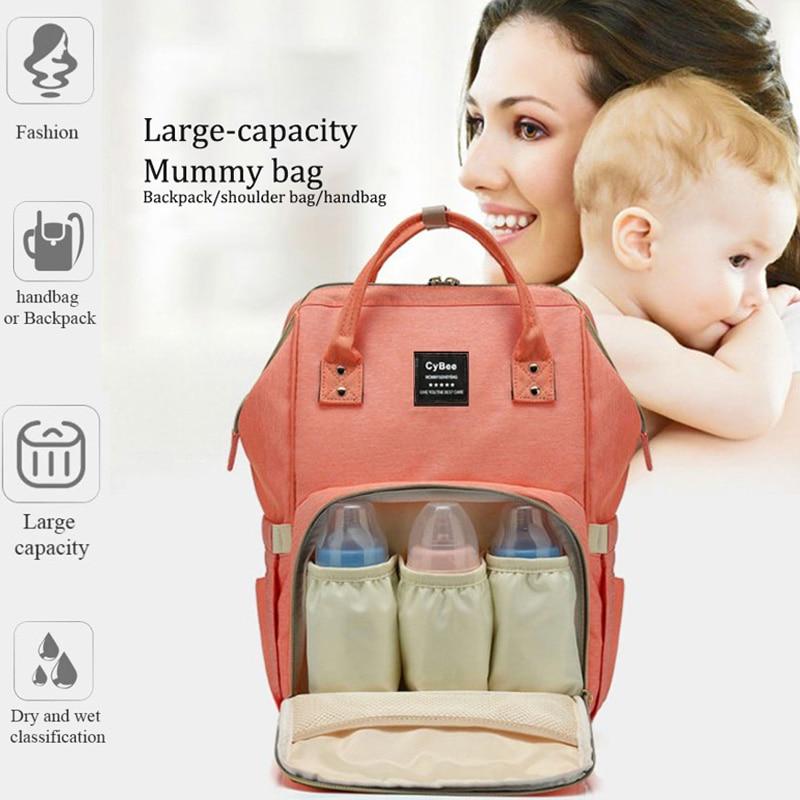 Fashion Mummy Maternity Insulation Bag Large Capacity Nappy Bag Travel Backpack Nursing Bag for Baby Care Women's Fashion Bag
