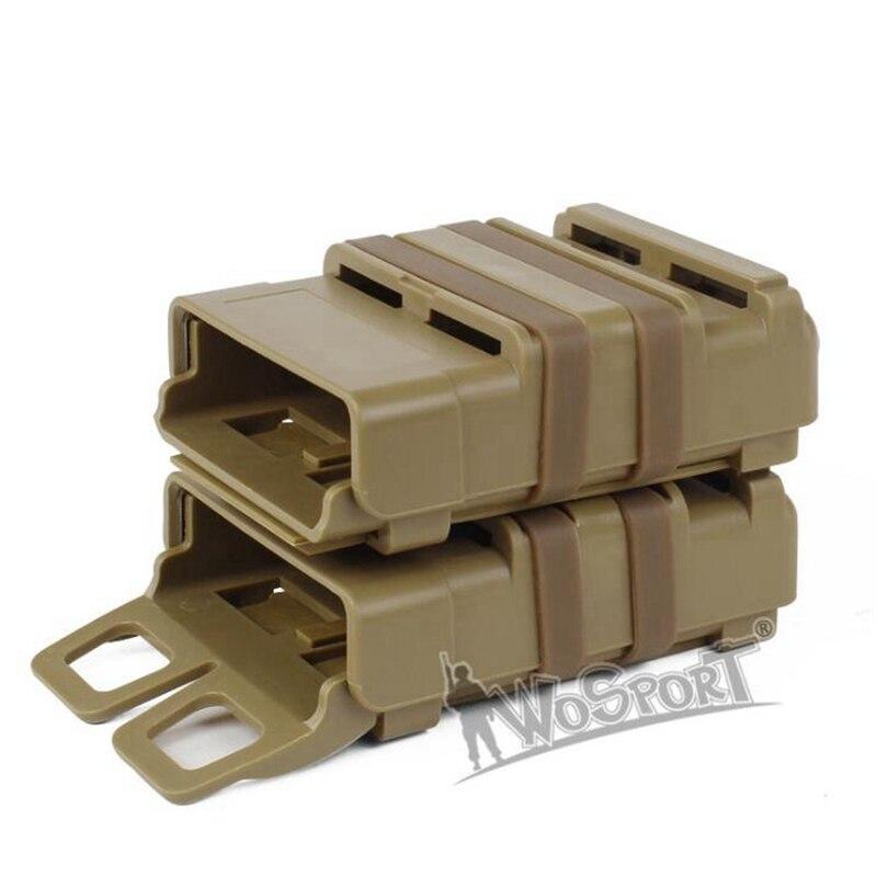 Atacado versão tática 5.56 de mag rápido puxar m4 compartimento bolsa módulo ao ar livre combinação dois conjuntos preto verde tan