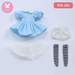 Bjd roupas para 1/8 boneca aimd 1.7 bonito vestido terno yf8 boneca acessórios roupa