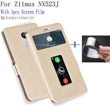 Coque de téléphone en cuir PU   Pour voir fenêtre ZTE Nubia Z11max, coque de couverture NX523J, coques de téléphone pour Nubia Z 11 Z11 max, couverture arrière