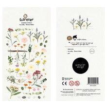 Flower Letter Sticker Stickers Diary Sticker Scrapbook Decoration PVC Stationery Stickers