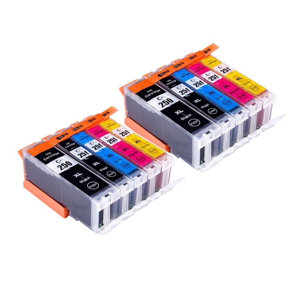 YLC 2 conjunto PGI-250 CLI-251 Compatível Para Canon PGI250 PIXMA MG5420 MG5422 MG5520 MG5522 MG6420 IP7220 MX722 MX922 IX6820 impressora
