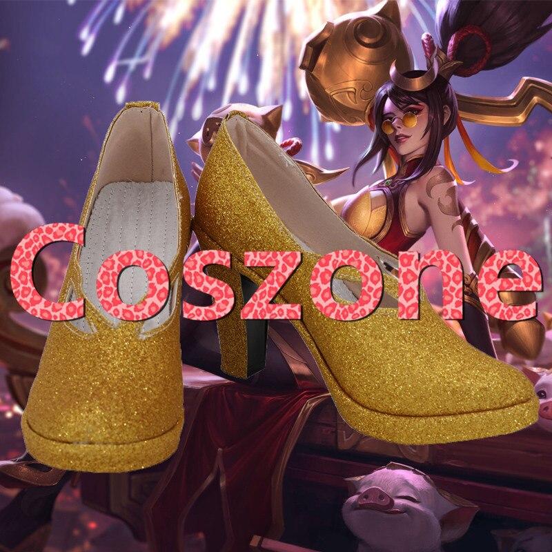 LOL Shauna Vayne, calzado de Cosplay de cazador nocturno, botas, accesorios para disfraz de Halloween