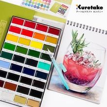 Haute qualité ZIG Kuretake solide aquarelle peinture 6/12/18/24/36 étoilé perle gemme peinture Pigment dessin croquis Art fournitures