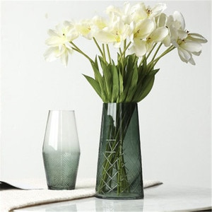2019 Simplicity Style Glass Vases Creative Decorative Flower Vases Home Decor TV Cabinet Adorn Vases Home Decorations