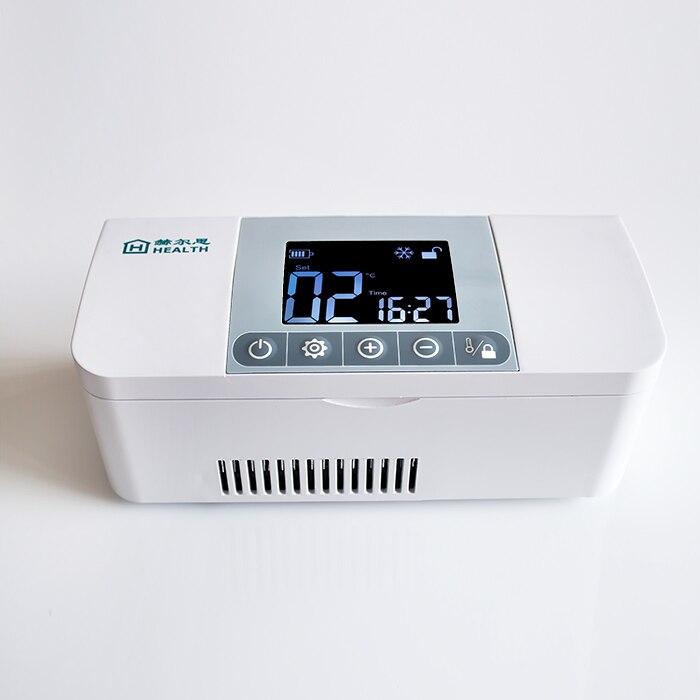 Enfriador portátil de insulina para diabéticos con batería/nevera médica, AC/DC/batería
