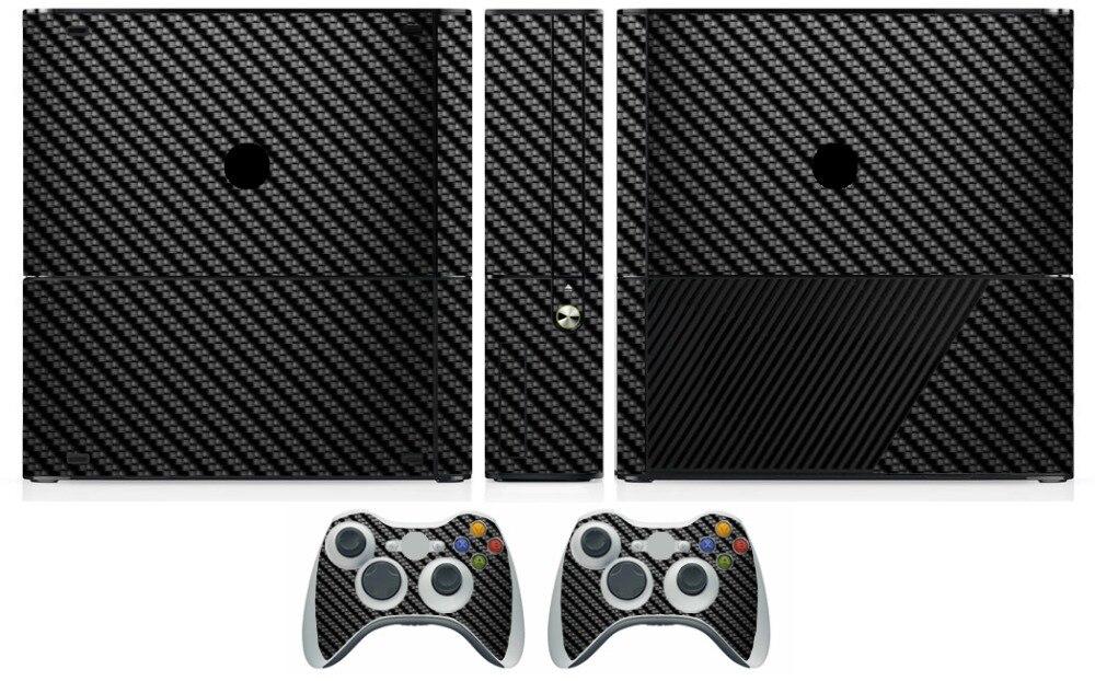 Black Carbon Fiber Vinyl Skin Sticker Protector for Microsoft Xbox 360 E and 2 controller skins Stickers for XBOX360 SLIM E