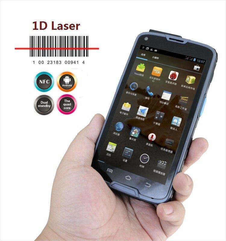 Tableta Industrial Android PDA de 5 pulgadas con lector de código de barras integrado 1D, NFC, Bluetooth, WIFI, GPS, 4G LS5S (1D)