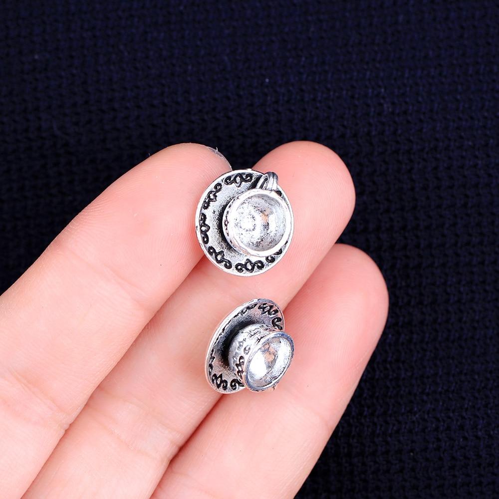 8 шт 14x7мм античный тибетский серебряный браслет с шармами Ожерелье Подвеска 2015 новая мода чашка