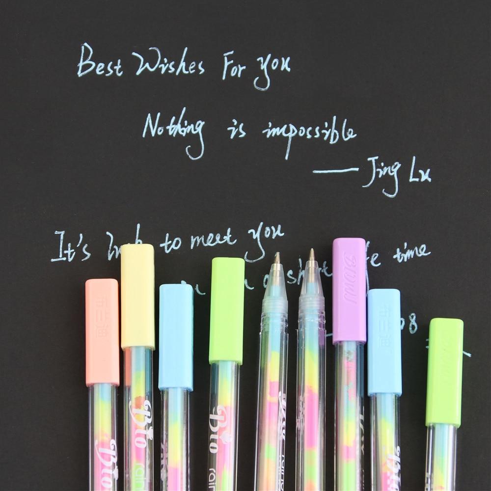 4 Uds. Nuevo bolígrafo de pintura de tiza de agua Kawaii 6 diferentes pluma de Gel de Color para regalo de chico productos novedosos papelería envío gratis