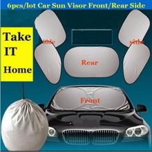 6 uds coche parabrisas y parasoles de ventana laterales para VW Polo Jetta Golf escarabajo MK2 MK4 MK5 MK6 Touareg Jetta Bora CC Passat B6 B5 B7