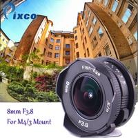 8mm F3.8 fisheye Lens C mount Lens Wide Angle Fish-eye For Micro Four Thirds Camera M43 for LUMIX GX8 GX85 G7 E-M5 E-M10II E-PL8