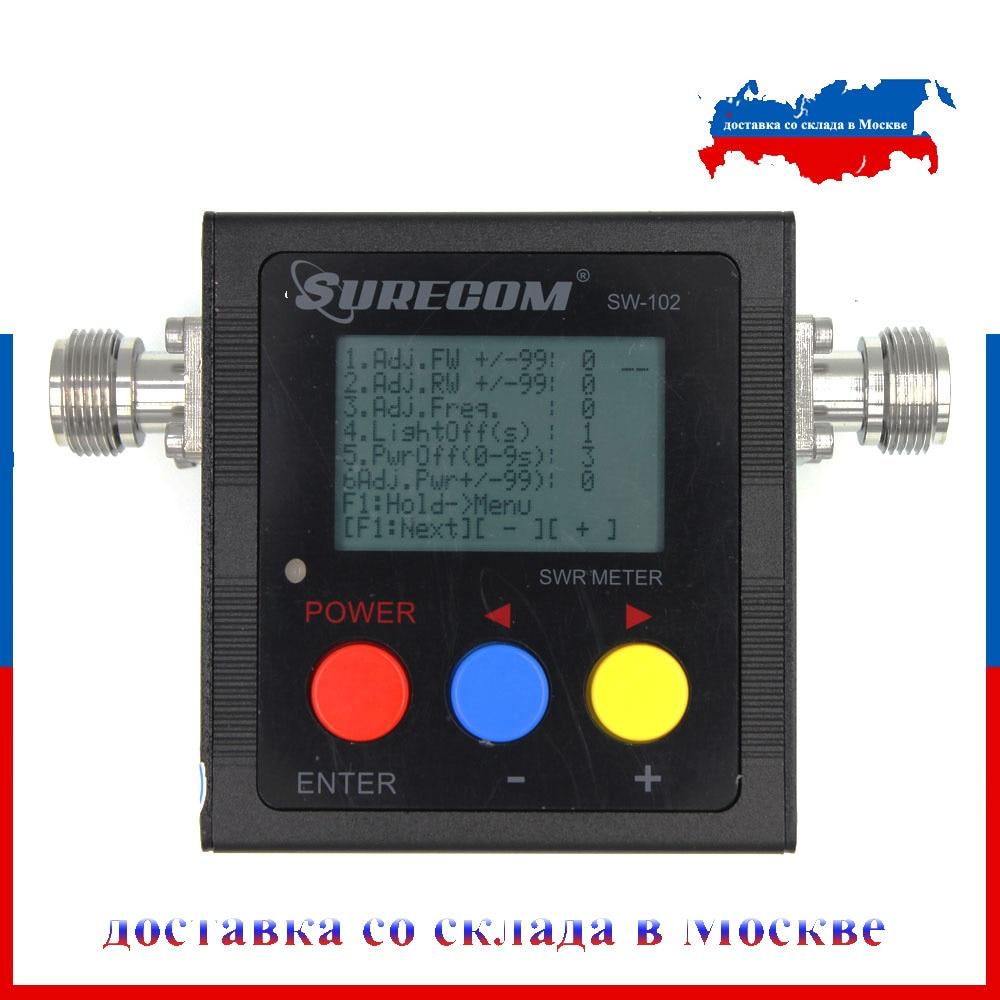 Последняя версия Surecom SW-102 125-525Mhz VHF/УКВ внешняя антенна Мощность и КСВ MeterDigital VHF/UHF SWR и Мощность Ватт метр
