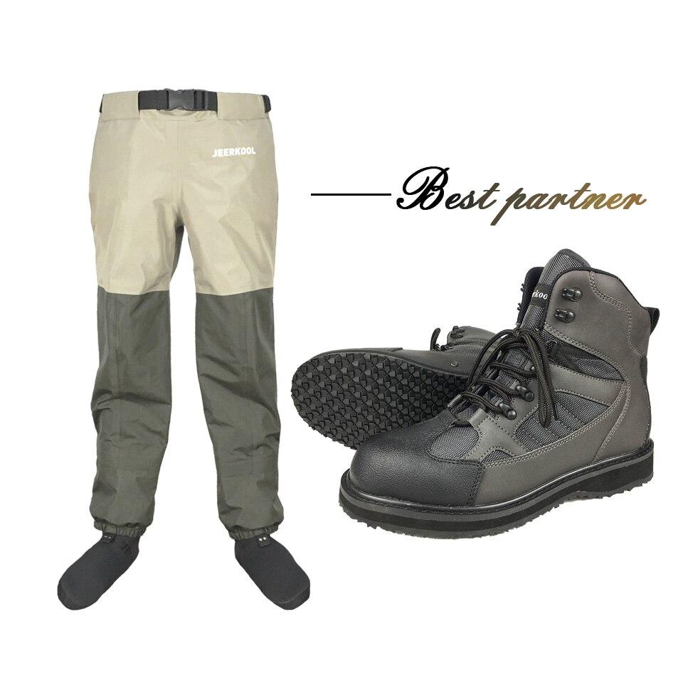 Pantalones de pesca con mosca, pantalones de pesca al aire libre, pantalones y zapatos de pesca con abalorios, zapatillas de agua, suela de goma, botas de pesca, zapatos de Rock FYR1