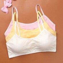 1PCS Child Cotton Bra For Young Girls Kids Teenage Underwear Wireless Small Training Puberty Bras Un