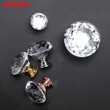 10 Pcs Naierdi Diamond Crystal Handles Glas Knoppen Kast Lade Trekt Keuken Kast Deur Kast Handvat Hardware