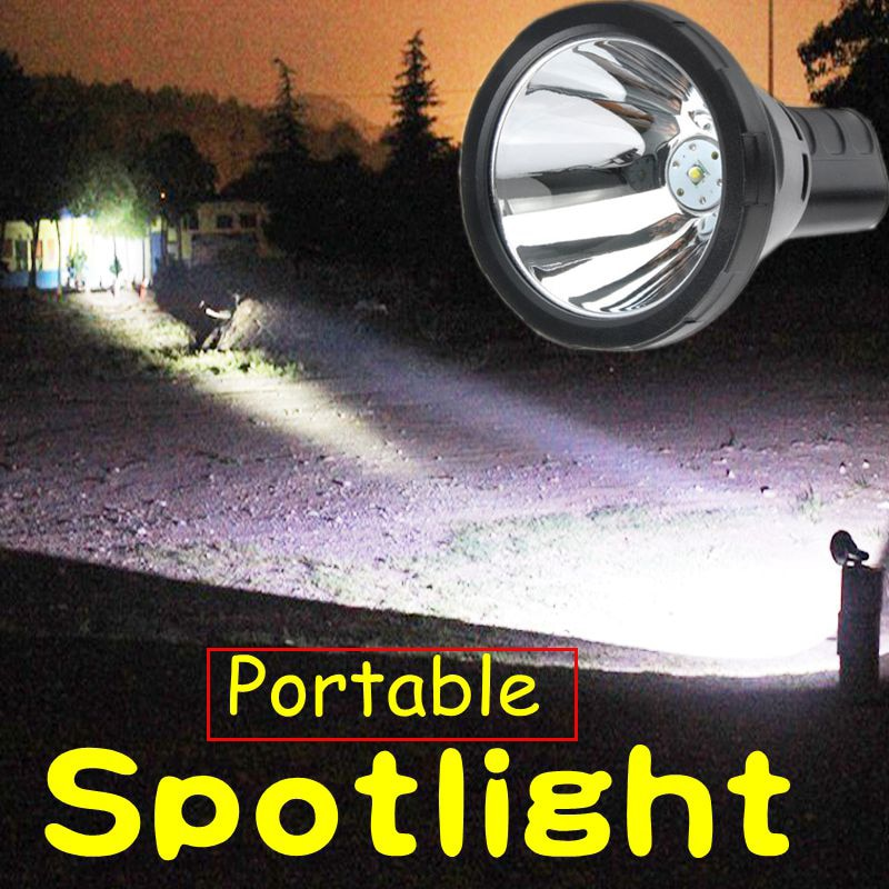 Highpower led t6 recarregável spotlight caça lanterna portátil iluminação holofote