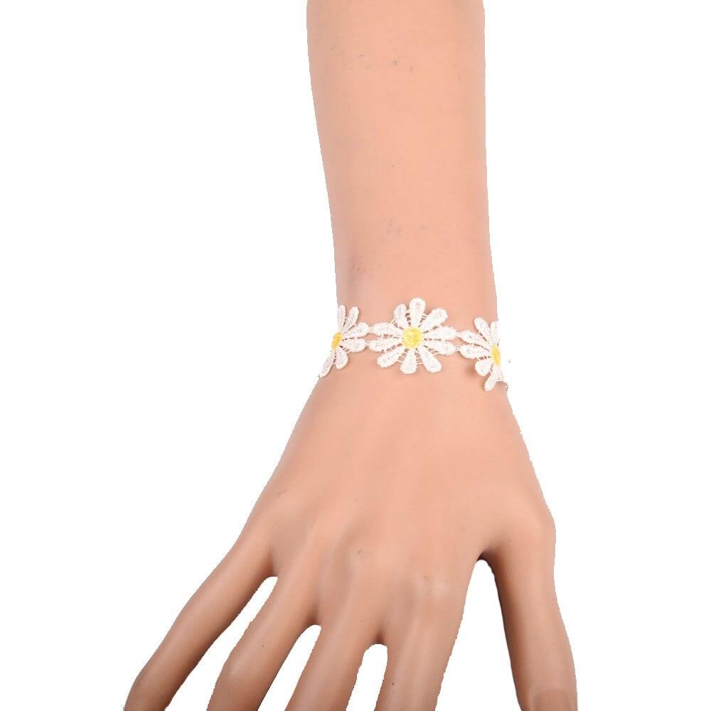 Women New Fashion Charm Bracelet Classic Lace Cloth Bracelet Lucky Hand Rope Girls Lace Bracelets Hot Sale