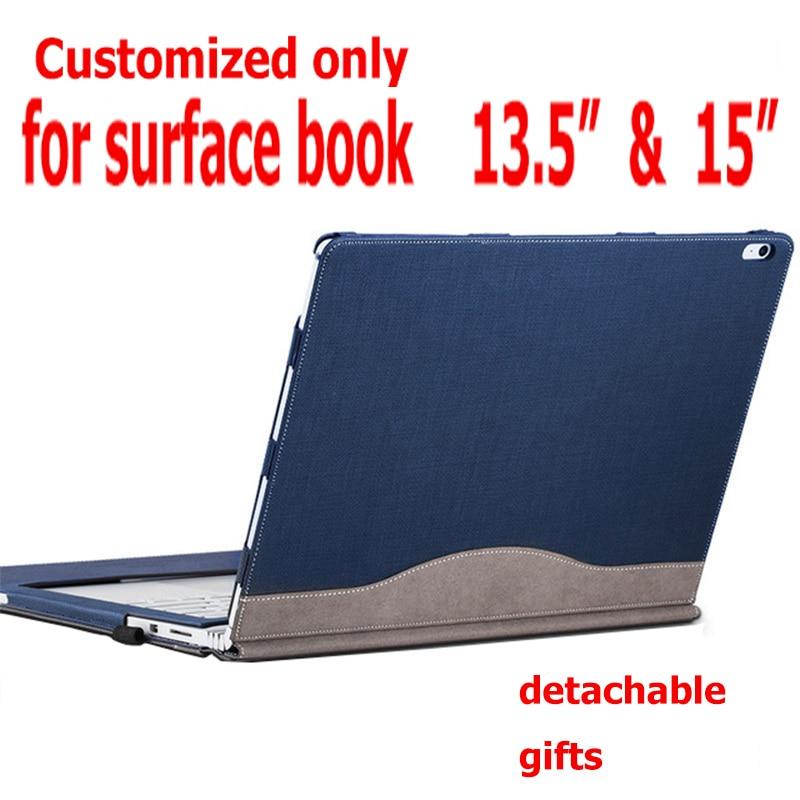 غطاء قابل للفصل لمايكروسوفت السطح Book2 كتاب 13.5 اللوحي حقيبة لاب توب حافظة بولي Leather جلد واقي لوحة المفاتيح غطاء هدايا