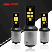 Anmingpu 2x Signaal Lamp P21/5W 1157 Led Lamp 3030SMD Bay15d Led 1156 BA15S P21W Led BAU15S PY21W canbus Auto Led Licht 12V R5W