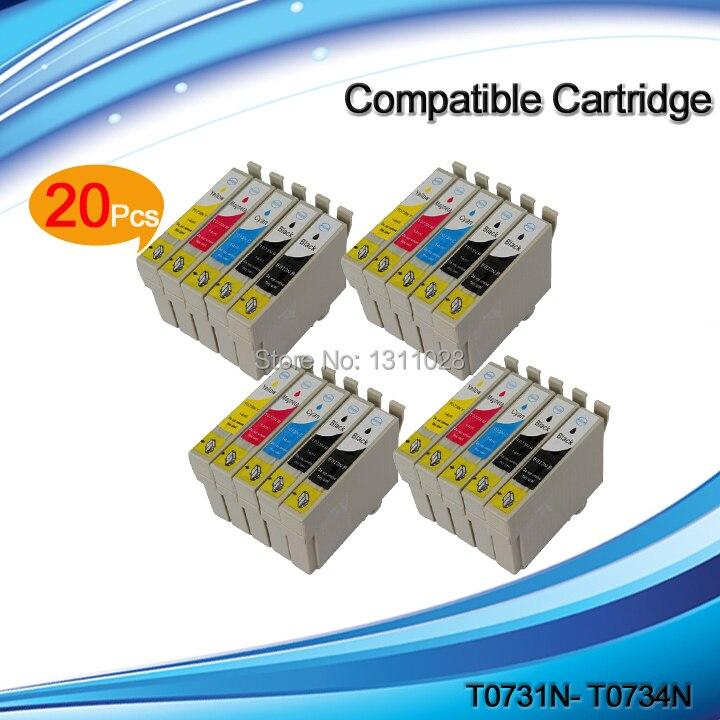 INK WAY 20PCS 73N Compatible inkjet cartridge for TX300F TX550W TX510FN TX600 TX100 TX101 TX110 TX111 TX121 TX200 etc.