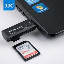 JJC caméra lecteur de carte mémoire adaptateur 5 Gbps USB 3.0 SD/Micro SD/TF/SDHC/SDXC lecteurs pour Win98/ME/2000/XP/WIN7/Mac OS
