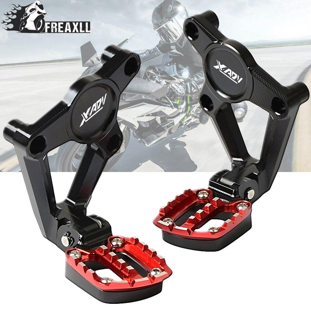 Conjuntos traseiros dobrável articulados footpegs apoio para os pés passageiro grade do radiador guarda acessórios da motocicleta para honda X-ADV 2017 2018